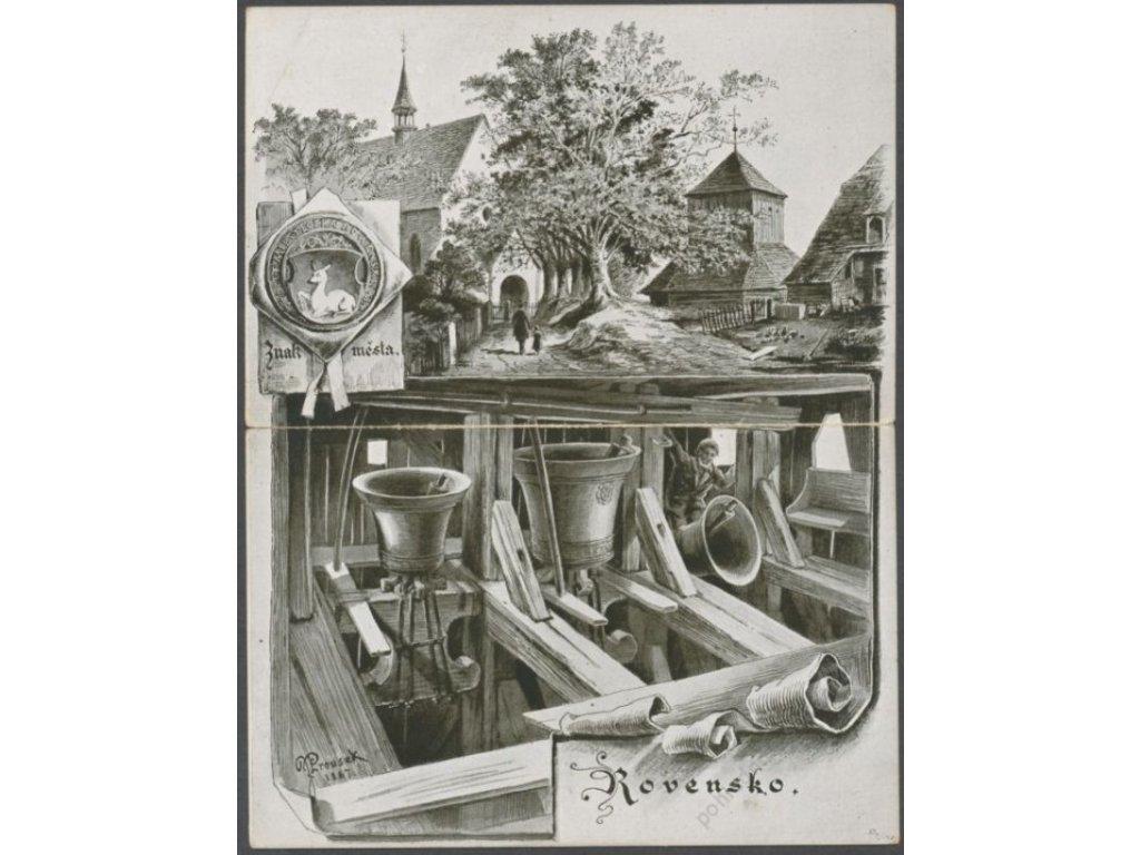 58 - Semilsko, Rovensko, Chrám sv. Václava v Týně nad Rovenskem u Trosek, cca 1925