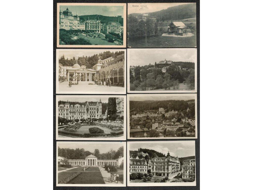 08 - Chebsko, Mariánské Lázně, sestava 20 - ti ks pohlednic, pestré..