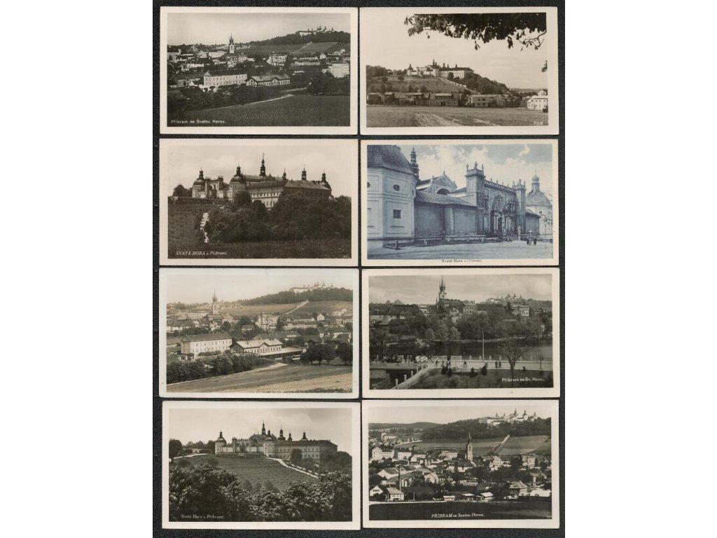 54 - Příbram, Svatá Hora, sestava 24 ks pohlednic, pěkné stavy, pestré