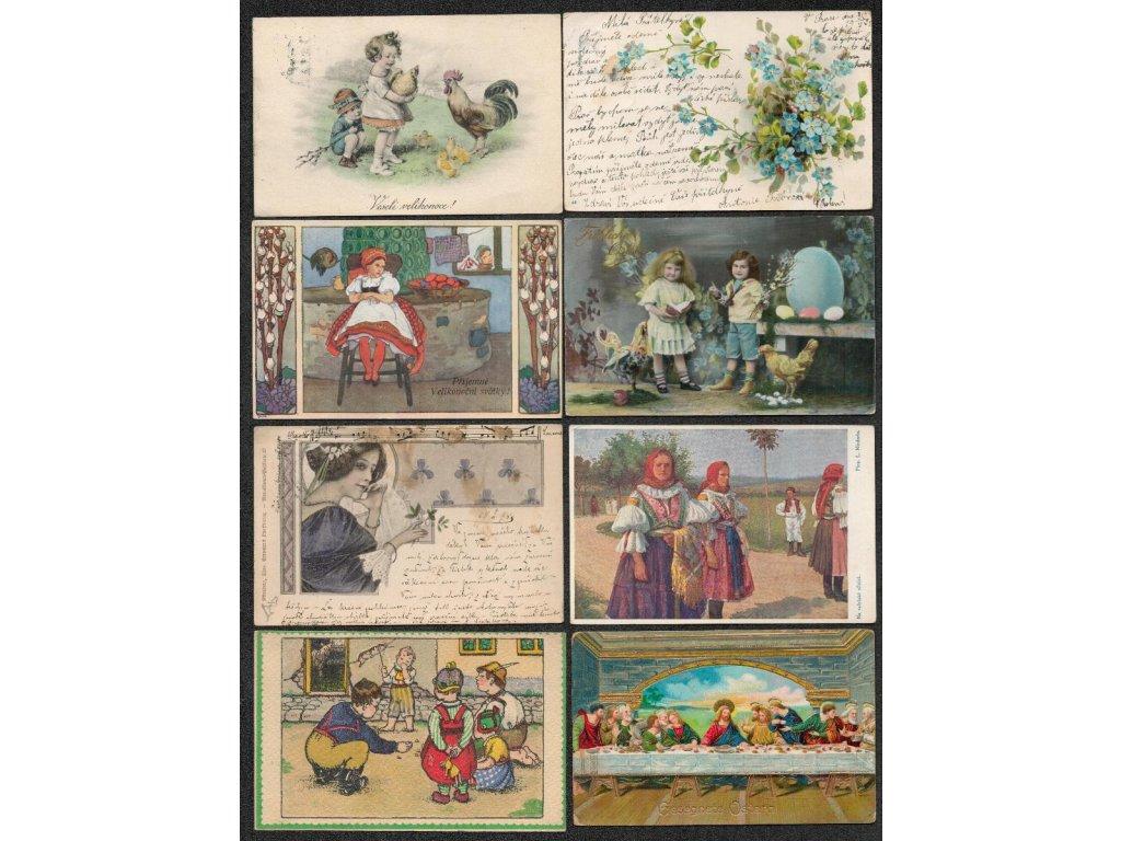 Sestava 20 - ti ks námětových a blahopřejných pohlednic, velmi pestré