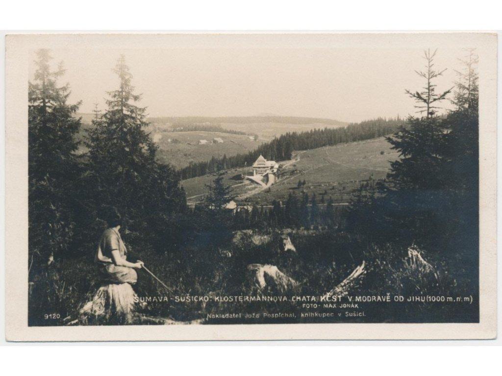 28 - Klatovsko, Šumava,oživená partie poblíž Klostermannovy chaty,1928