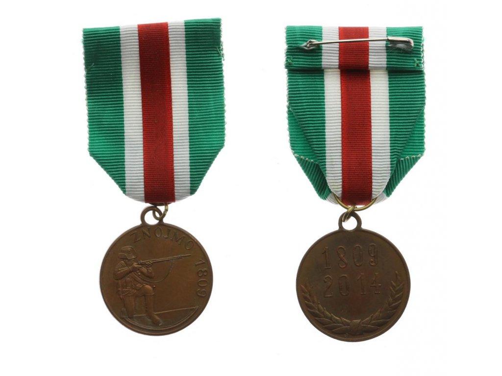 Znojmo, Pamětní střelecká medaile, 1809/2014, stuha, luxusní
