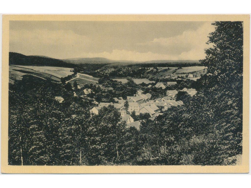 52 - Prostějovsko, Hamry, celkový pohled na obec, cca 1940