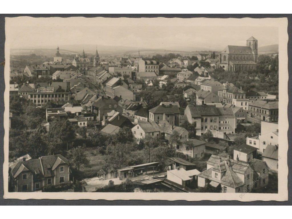 58 - Semilsko, Turnov (Turnau), pohled na město, foto Švec, cca 1940