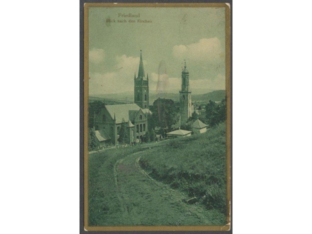 Poland, Mieroszów (Friedland In Schlesien), evangelic church, publ. Bromogold, cca 1927