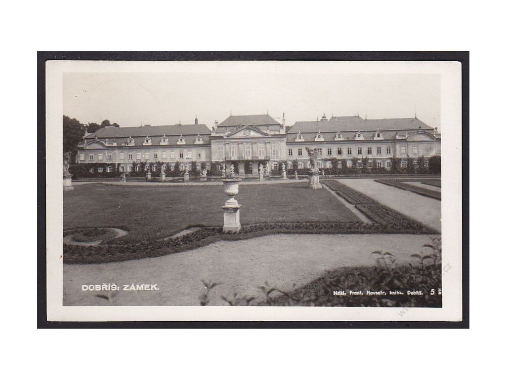 54 - Příbramsko, Dobříš, zámek, foto Fon, cca 1930