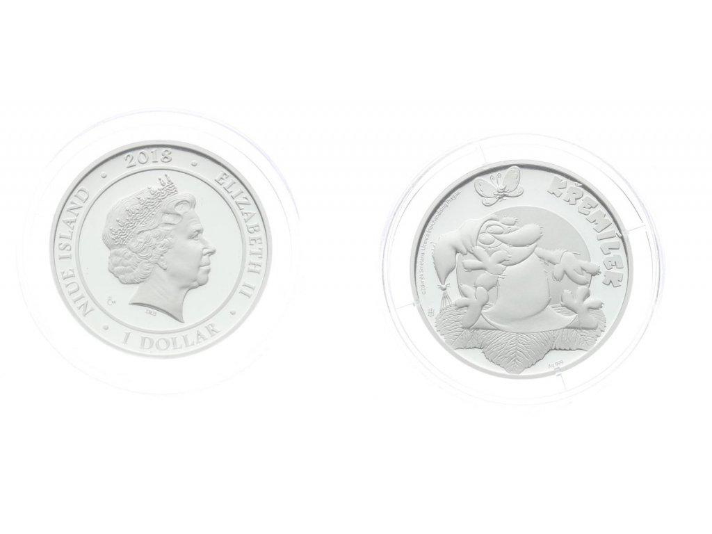 ČR, Niue Island, 1 Dolar, 2018, Křemílek, Ag 0,999, 10,1 gramu, PROOF