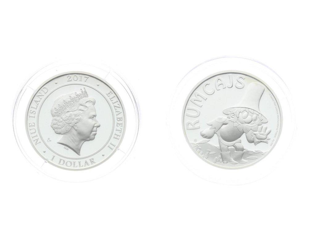 ČR, Niue Island, 1 Dolar, 2017, Rumcajs, Ag 0,999, 10,1 gramu, PROOF