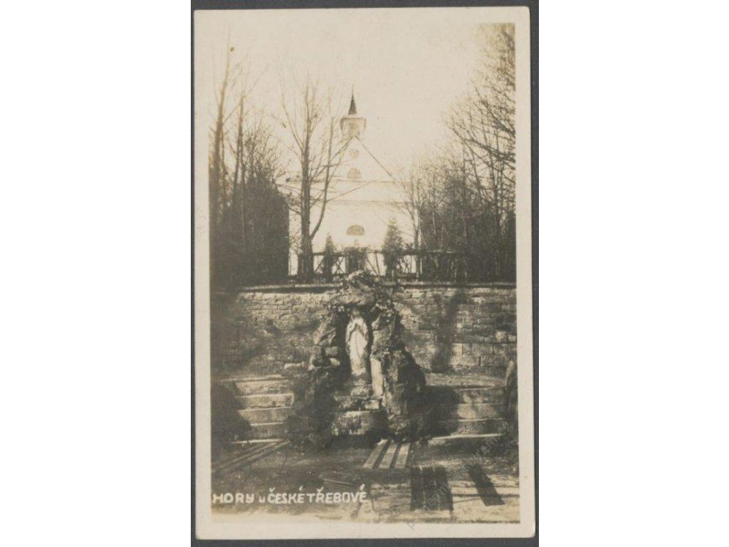 70 - Ústeckoorlicko, Česká Třebová, Hory, kaple Panny Marie Pomocné, Bromografia, cca 1932