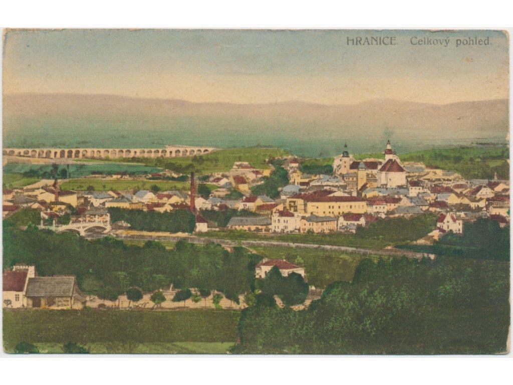 53 - Přerovsko, Hranice, celkový pohled na město, cca 1921