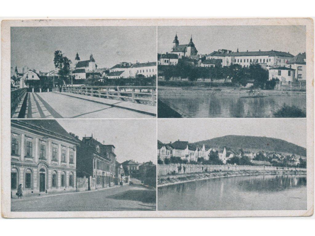 53 - Přerovsko, Hranice, 4 - záběr dominant města, cca 1949
