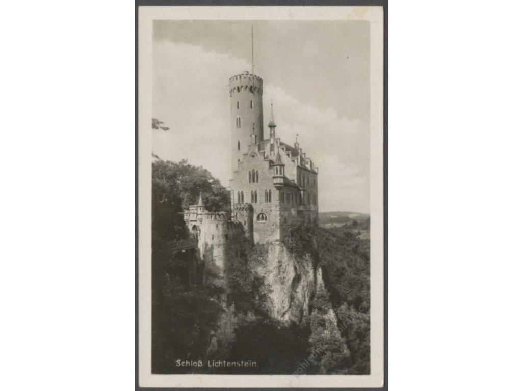 Germany, Baden-Württemberg, Swabian Alb, Lichtenstein castle, publ. Schäfer, cca 1940