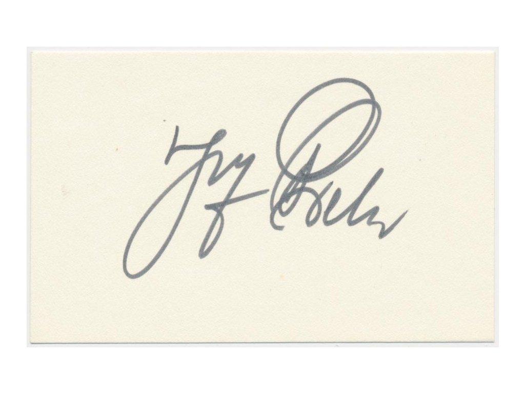 Bek Josef, herec (1918-1995) , kartička s vlastnoručním podpisem