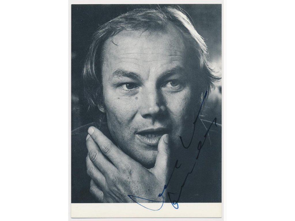Brandauer Klaus Maria (1943), rakouský herec, sběratelské foto, podpis