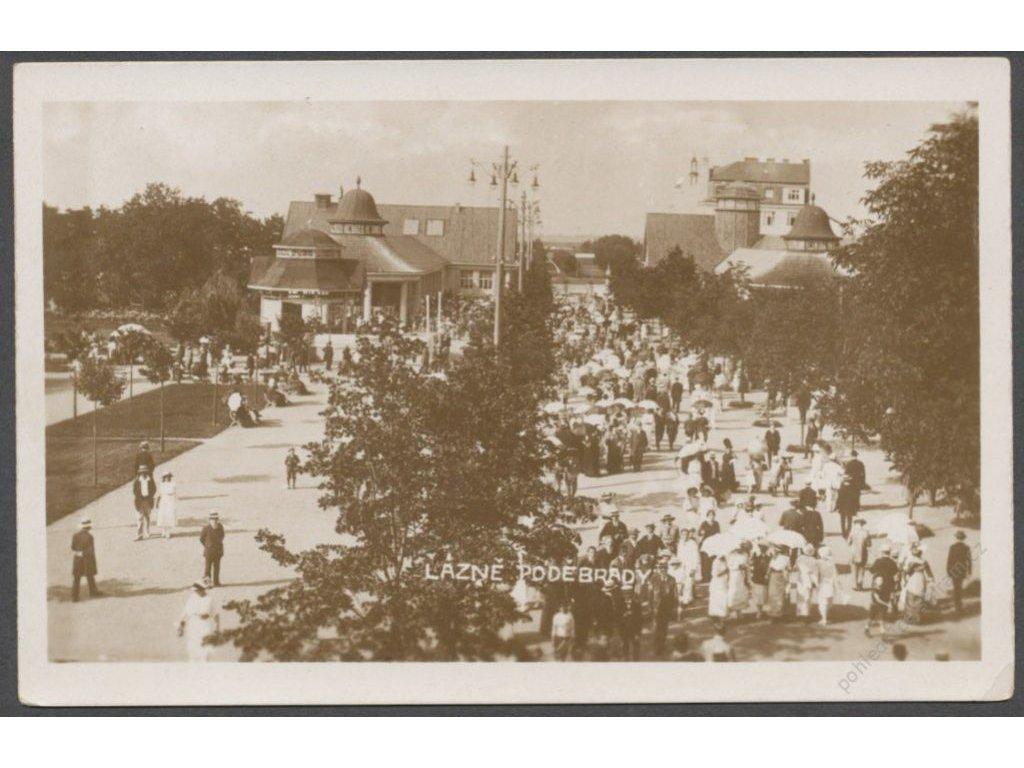 40 - Nymbursko, lázně Poděbrady, kolonáda, cca 1930