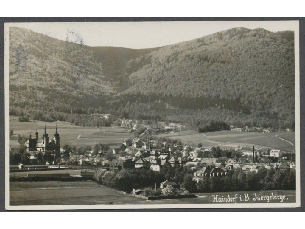 32 - Liberecko, Jizerské hory, Hejnice, (Isergebirge, Haindorf), celkový pohled, cca 1932