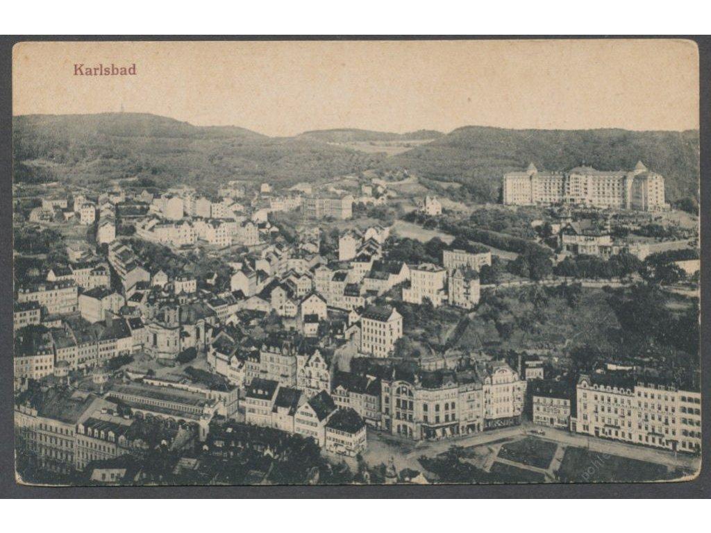25 - Karlovy Vary (Karlsbad), celkový pohled, nakl. Fritz, cca 1925