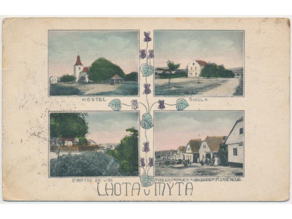 70 - Orlickoústecko, Lhota u Mýta, 4 - záběr, obchod p. Zajíčkové....