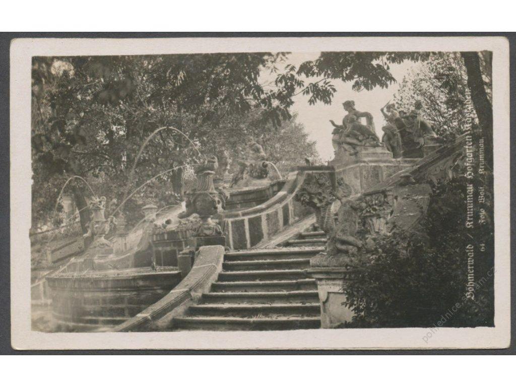 13 - Český Krumlov (Krummau), Kaskády v zahradách (Kaskade im Hofgarten), cca 1930