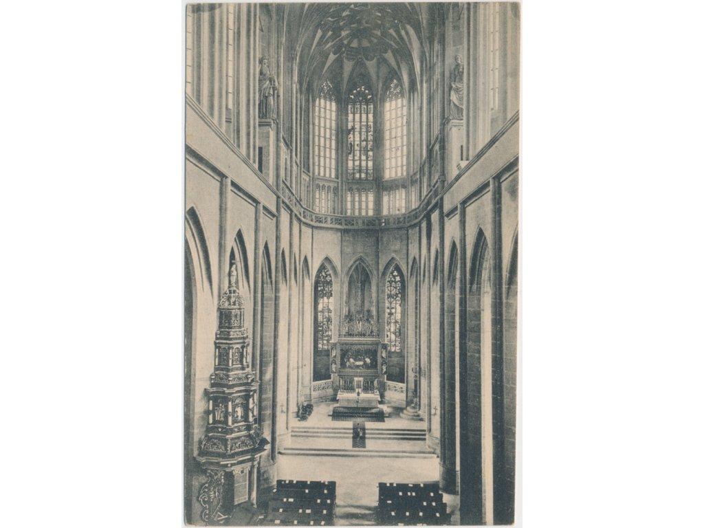 31 - Kutná Hora, interiér chrámu sv. Panny Barbory, cca 1911