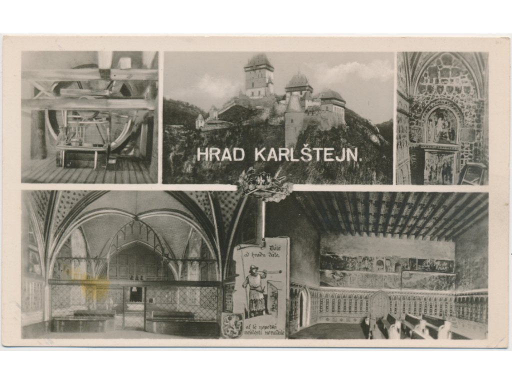 02 - Berounsko, hrad Karlštejn, 5 - ti záběr dominant, Foto Fon
