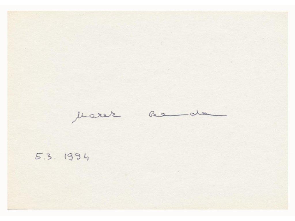 Benda Marek (1968), český politik, karta s podpisem