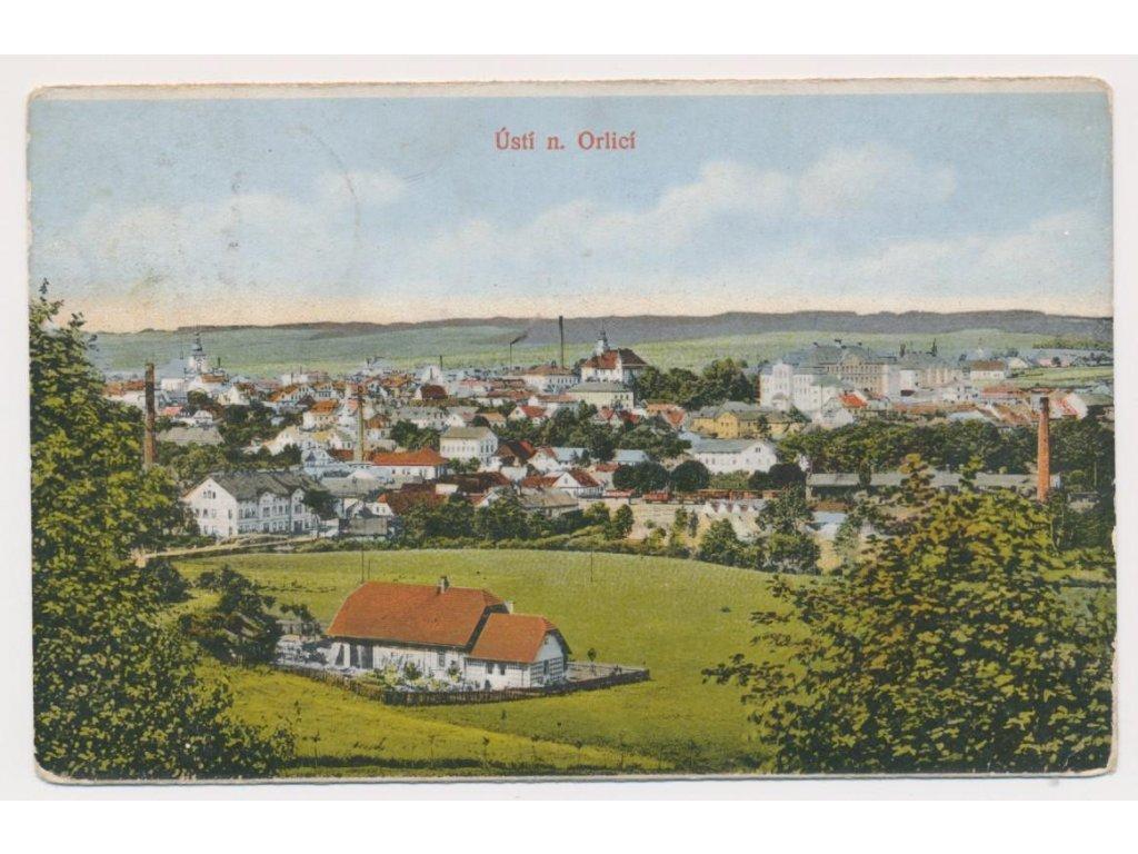 70 - Ústí nad Orlicí, celkový pohled na město, cca 1915