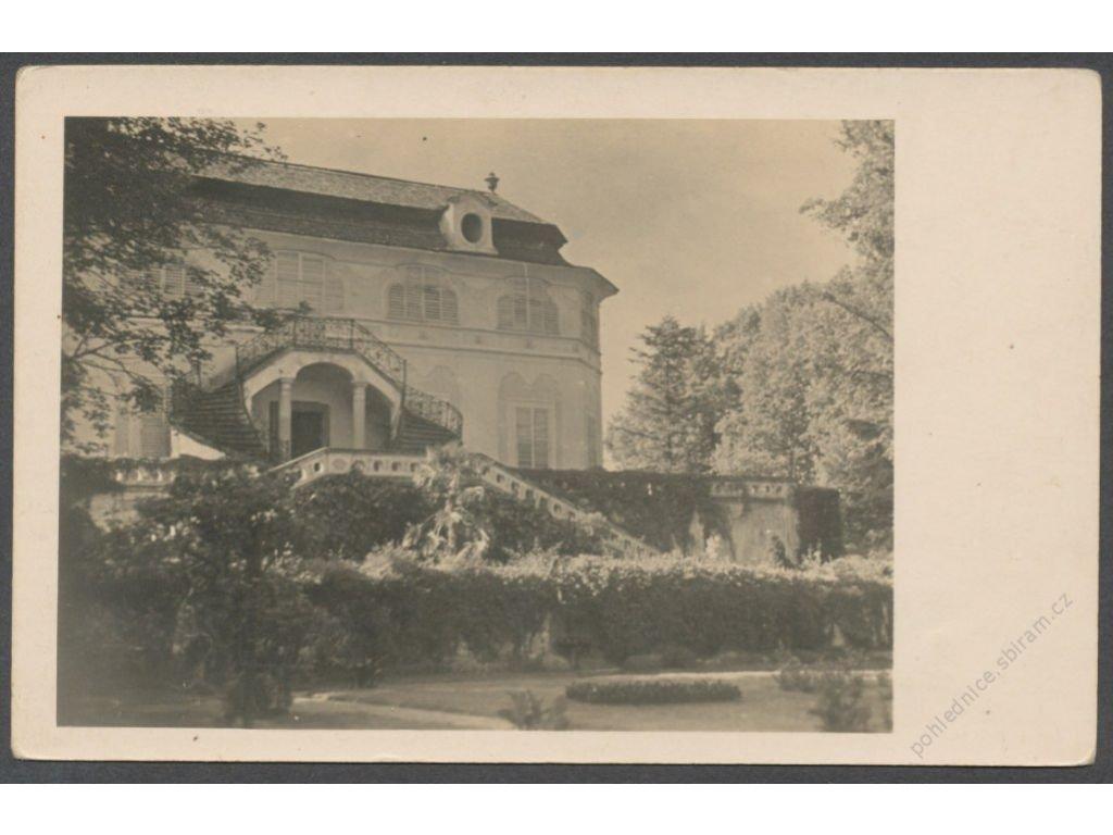 13 - Český Krumlov (Krummau), Panské zahrady (Hofgarten), foto Wolf, cca 1935