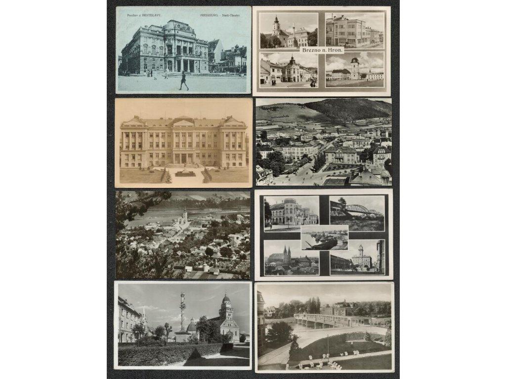 Slovensko, sestava 32 ks pohlednic, každá jiná, pestré...