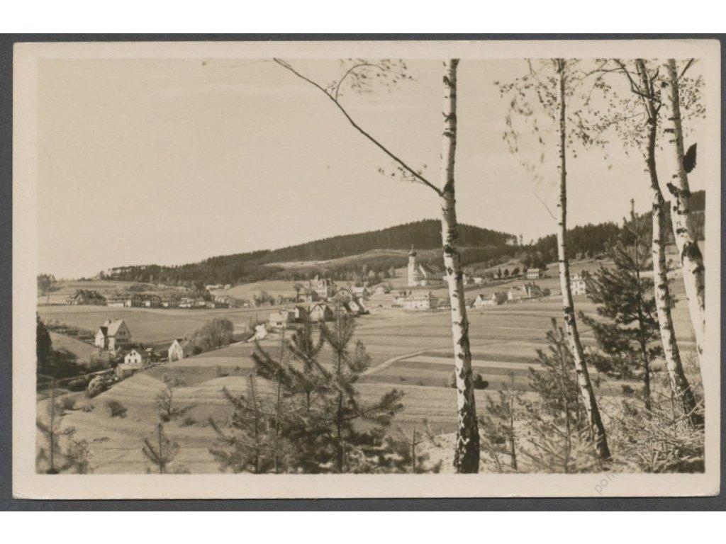 13 - Českokrumlovsko, Větřní, celkový pohled, nakl. Orbis, cca 1960