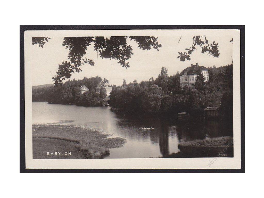 15 - Domažlicko, Babylon, pensionát Magda, nakl. Rybařík, cca 1930