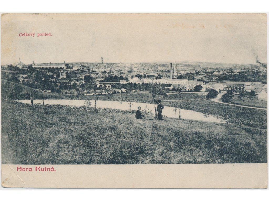 31 - Kutná Hora, celkový pohled na město, cca 1909
