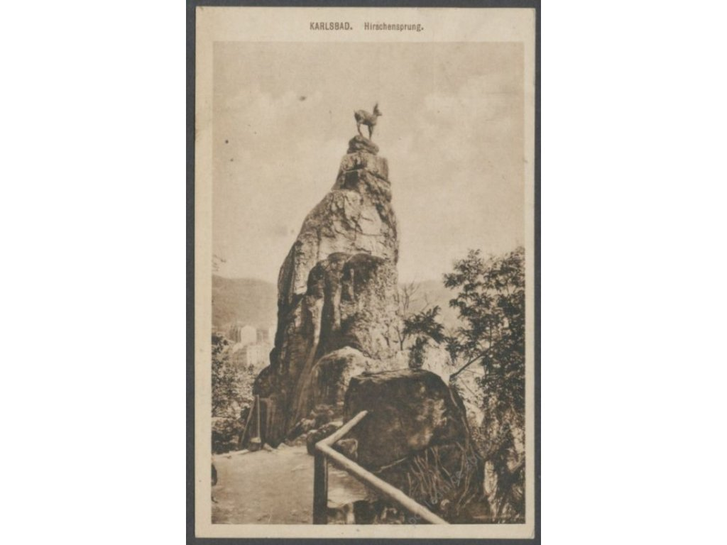 25 - Karlovy Vary, (Karlsbad), Jelení skok (Hirschsprung.), nakl. Königin, cca 1925