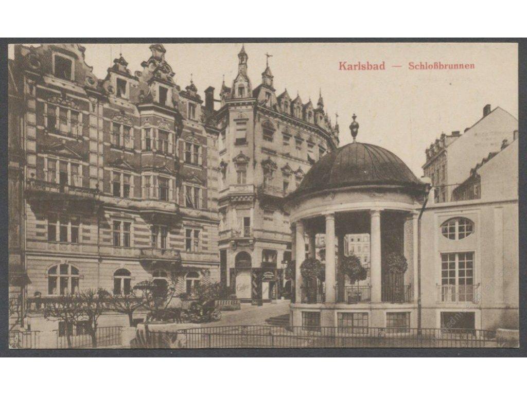 25 - Karlovy Vary (Karlsbad), studna (schlossbrunnen), nakl. Seibt, cca 1918