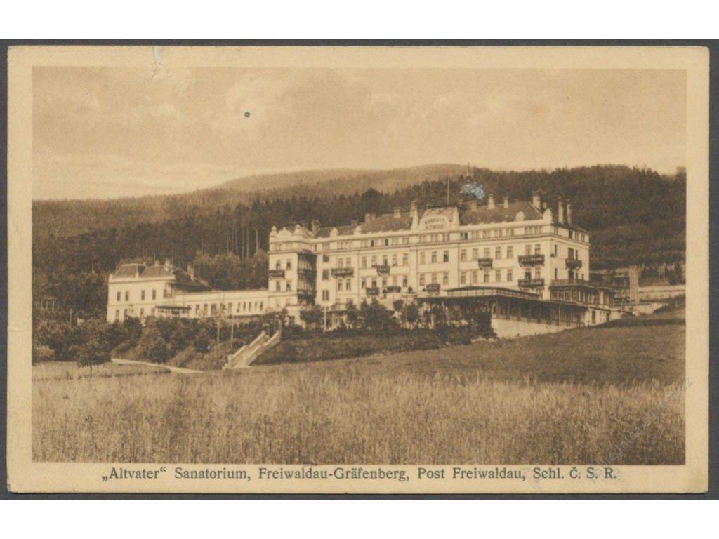 "21 - Jesenicko (Freiwaldau-Gräfenberg), sanatorium ""Altvater"", cca 1935"