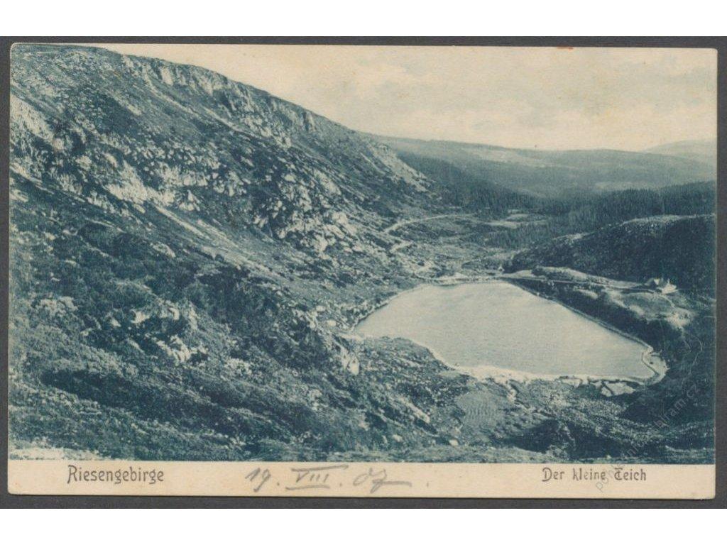 66 - Krkonoše, Malý rybník, (Riesengebirge, Kleiner Teich), cca 1907