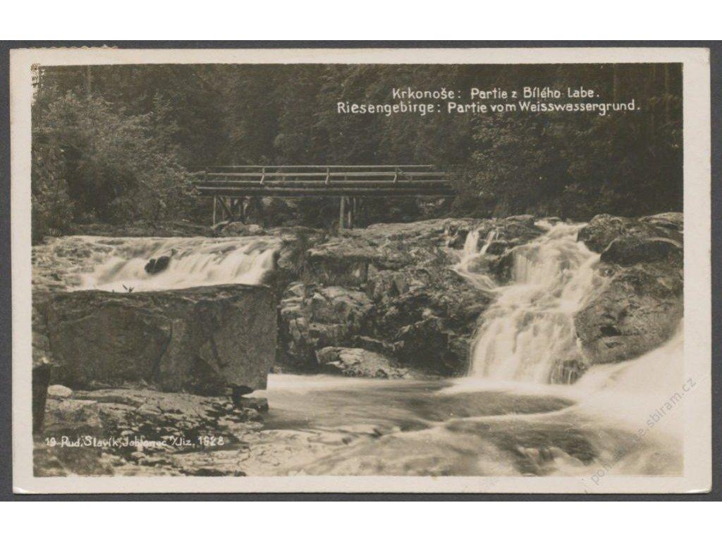 66 - Krkonoše (Riesengebirge), partie z Bílého Labe (Weisswassergrund), foto Fon, cca 1935