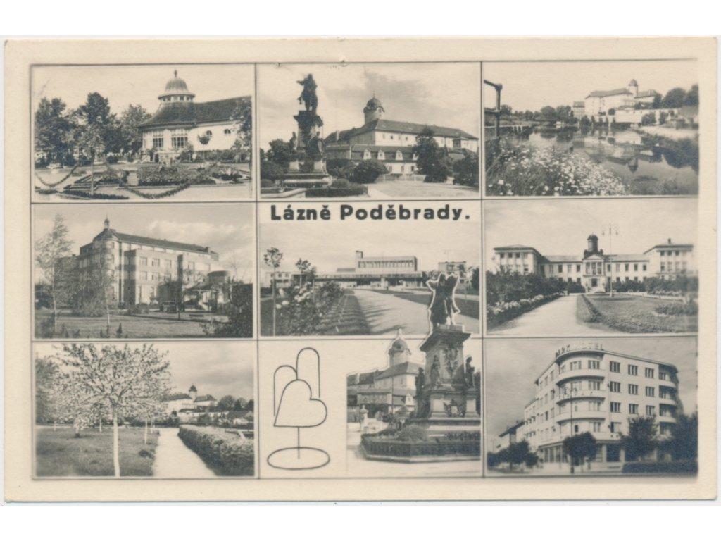 40 - Nymbursko, Lázně Poděbrady, 9-ti záběr dominant,Grafo Čuda,1948
