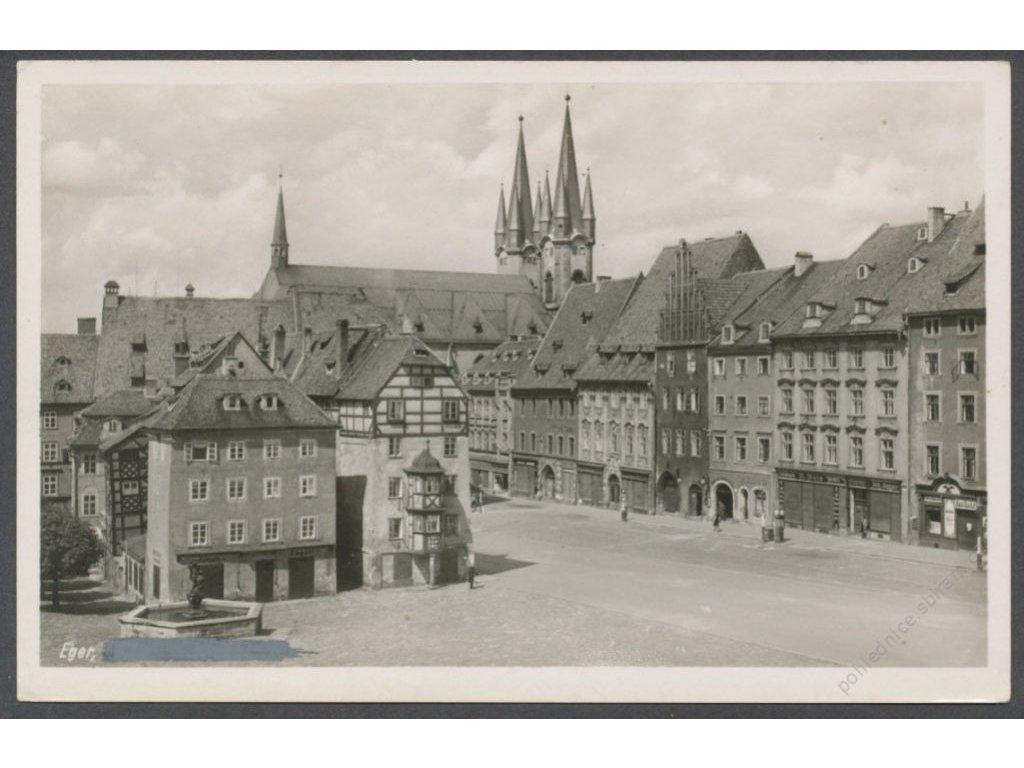 08 - Cheb (Eger), náměstí, nakl. Weber & Co., cca 1935