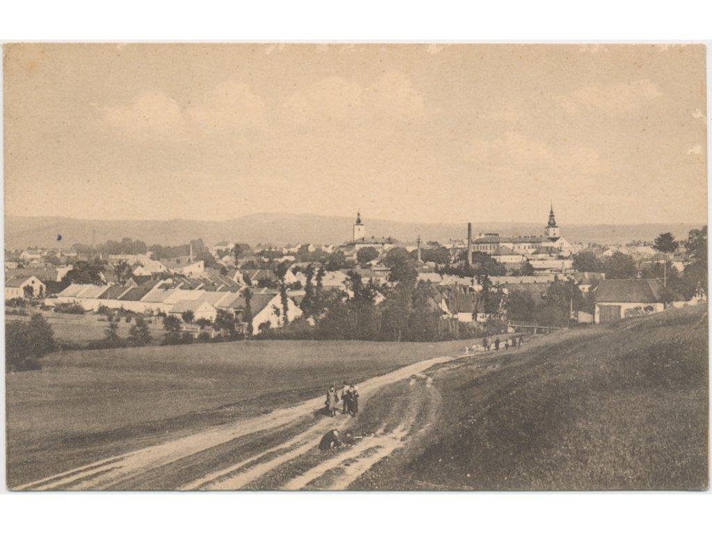 70 - Orlickoústecko, Lanškroun, celkový pohled na město, cca 1918