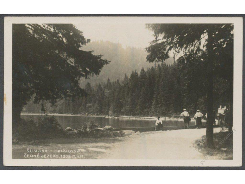 28 - Šumava, Černé jezero, nakl. Klub ČSL turistů, foto Fon, cca 1928