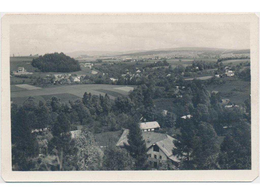 70 - Orlickoústecko, Kunvald, celkový pohled, cca 1945