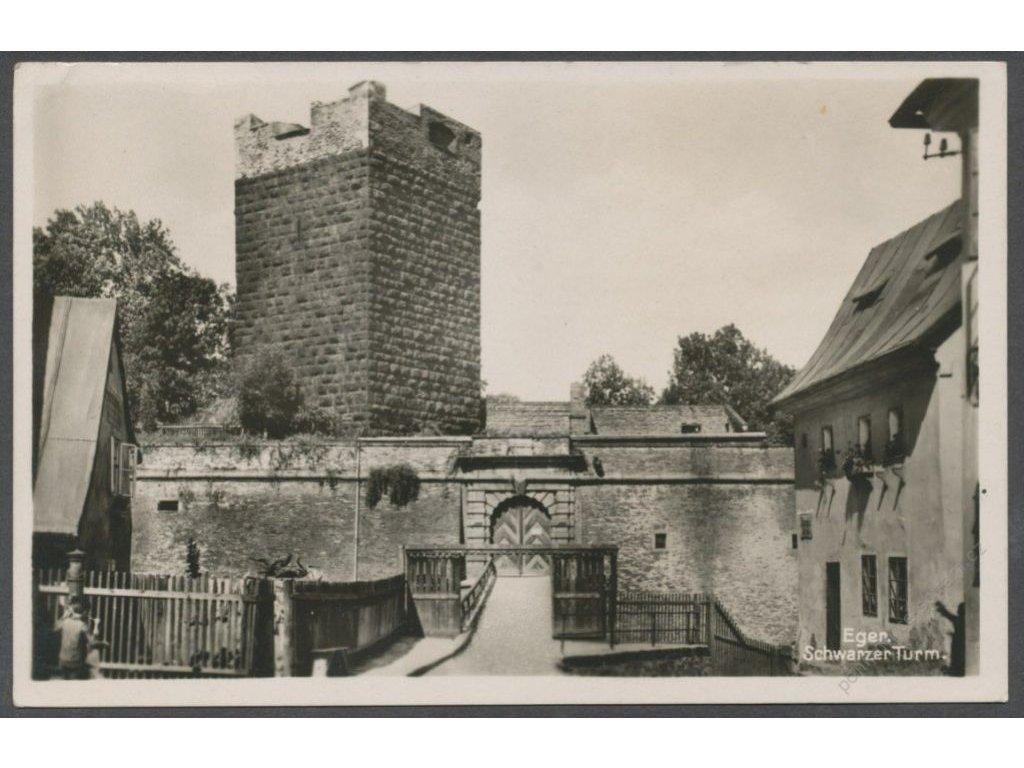 08 - Cheb (Eger), Černá věž (Schwarzer Turm), nakl. J. Z. E., cca 1936
