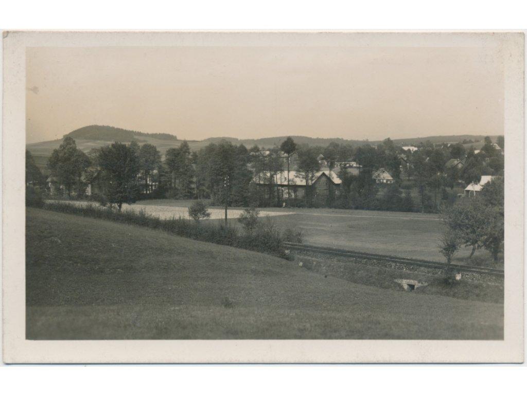 70 - Orlickoústecko, Lukavice u Kyšperka, pohled na obec, cca 1958