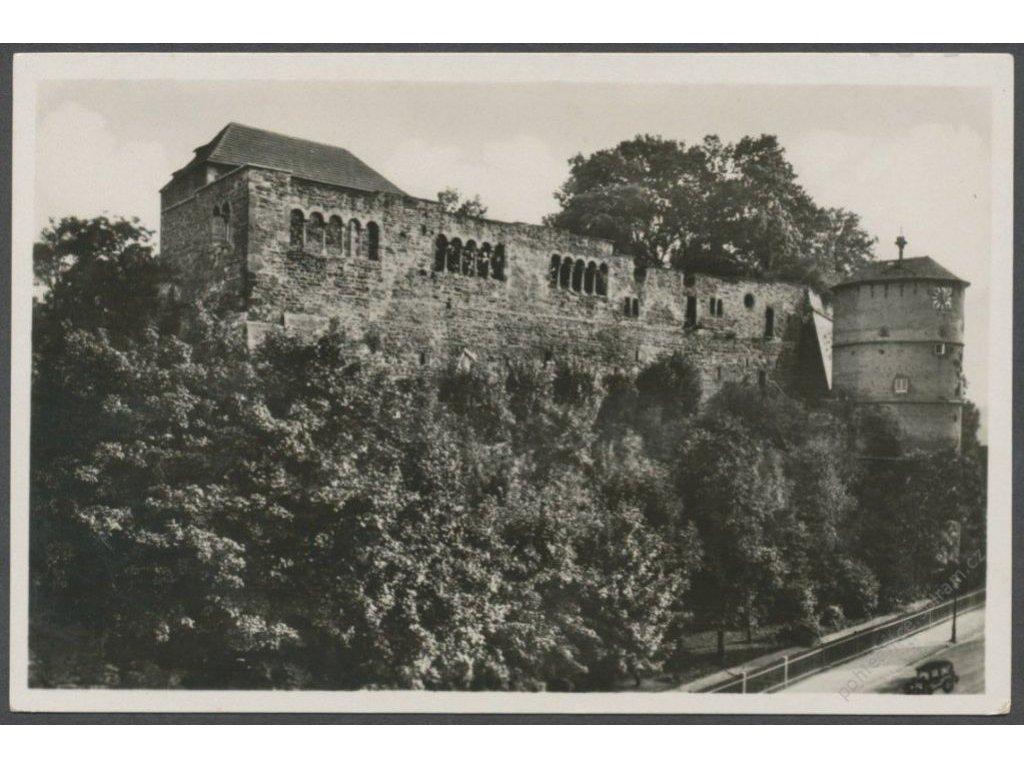 08 - Cheb (Eger), Kaiserburg (zřícenina hradu), nakl. J. Z. E., cca 1935