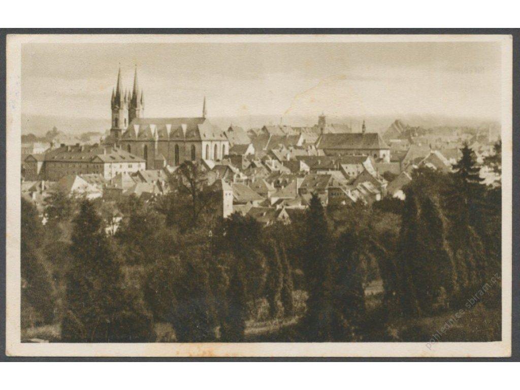 08 - Cheb (Eger), pohled na město, nakl. Köhler, cca 1936