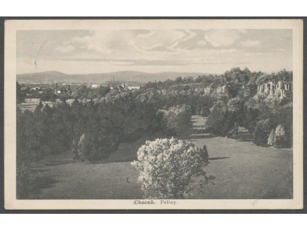 70 - Ústeckoorlicko, Choceň, Peliny, nakl. Strašík, cca 1935
