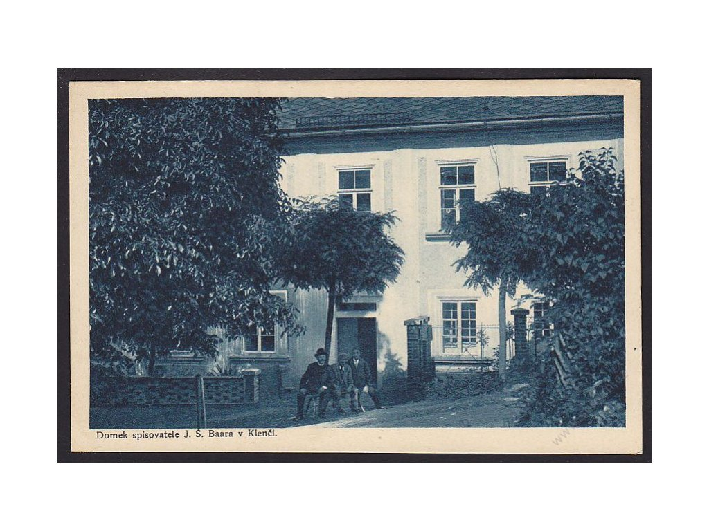 15 - Domažlicko, Kleneč, domek spisovatele J. Š. Baara, nakl. Rybařík, cca 1935