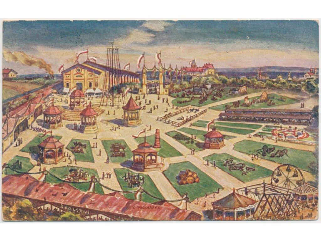 50 - Praha - východ, Brandýs nad Labem,partie z Okresní výstavy r.1924