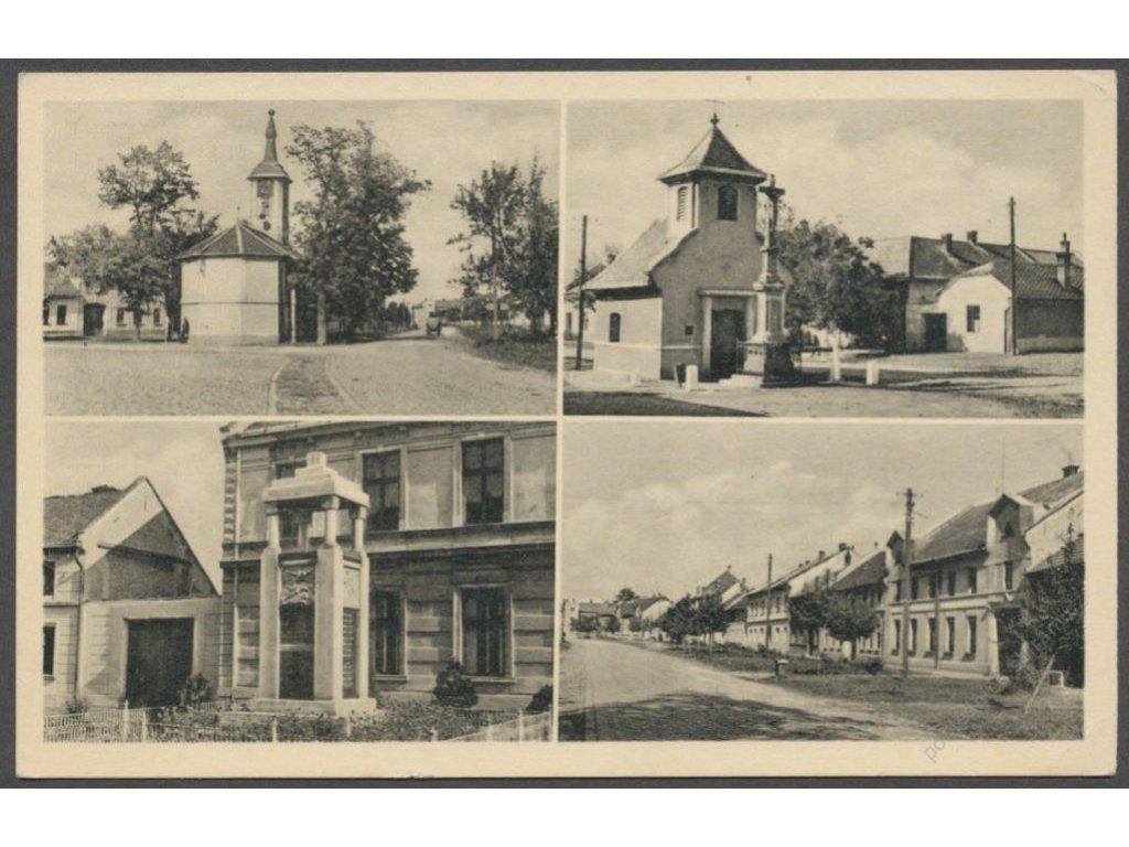 52 - Prostějovsko, Bedihošť - Václavovice, části obce, cca 1950